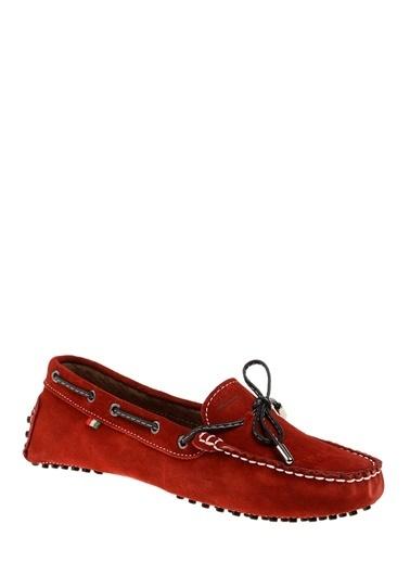 Divarese Süet Loafer Ayakkabı Kırmızı